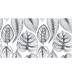 Seamless pattern with compositions of hand drawn vector
