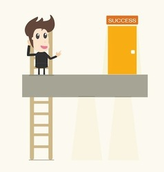 Businessman climbing up vector