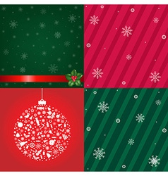 Christmas Backgrounds With Snowflakes Set vector image