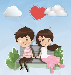 Shy couples vector