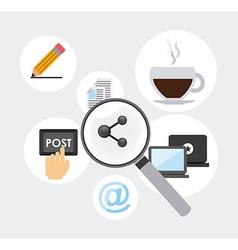 social net working vector image