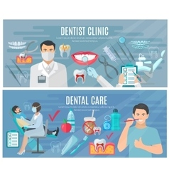Dentist banners set vector