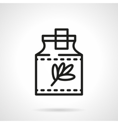 Herbal tincture black line icon vector