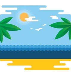 Summer tropical banner vector