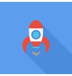Rocket flat icon vector