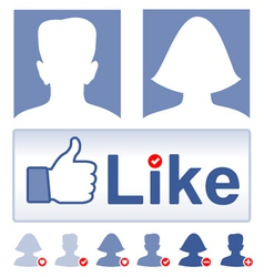 Set social media facebook concept vector