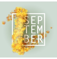 First september autumn background vector