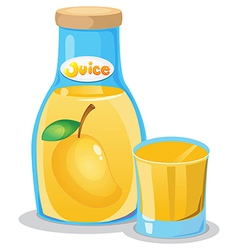 A bottle of mango juice vector image vector image