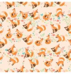 a cute fox vector image vector image