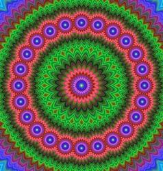 Abstract floral fractal mandala design background vector