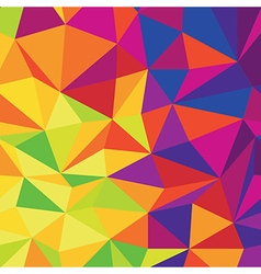 Abstract Low Poly Colorful Background Template vector image
