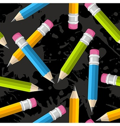 Back to school pencil grunge pattern vector image