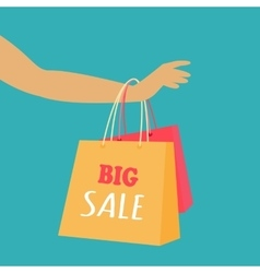 Big sale concept in flat design vector