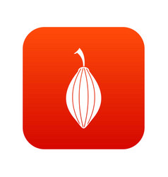 Black cardamom pod icon digital red vector