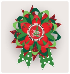 Chtistmas edition ribbon design vector image vector image