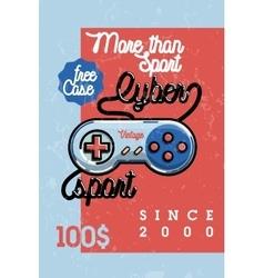 Color vintage cyber sport banner vector
