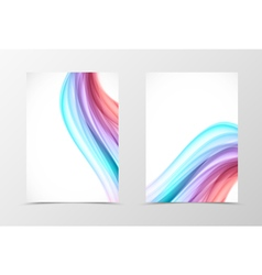 Front and back swirl flyer template design vector