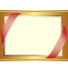 golden decorative background vector image vector image
