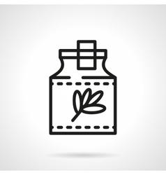 Herbal tincture black line icon vector image