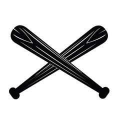 isolated pair of baseball bats vector image vector image