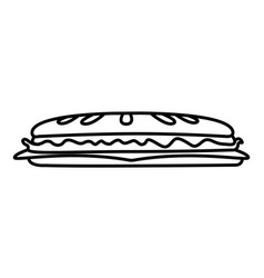 isolated sandwich icon vector image vector image