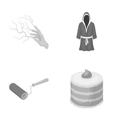 Magic building and other monochrome icon in vector