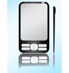 Pda and stylus vector
