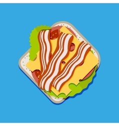 Sandwich top view vector image