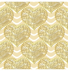 Seamless golden valentine pattern vector image vector image