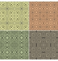 set of seamless ethnic pattern vector image vector image