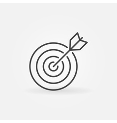Target line icon vector