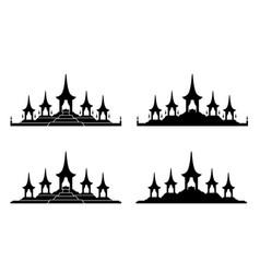 The royal funeral pyre rama 9 icon design vector