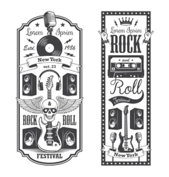 Two rock and roll music flayer covers vector image