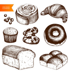 vintage bakery vector image
