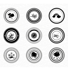 Black retro labels and badges nature vector