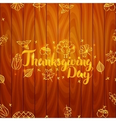 Thanksgiving Day Wooden Board vector image