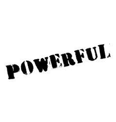 Powerful rubber stamp vector