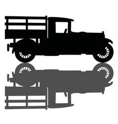 Vintage black truck vector
