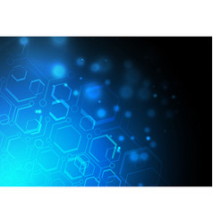 Blue light geomatic background vector
