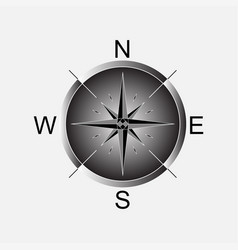 compass compass rose vector image