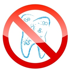 Tooth with caries vector