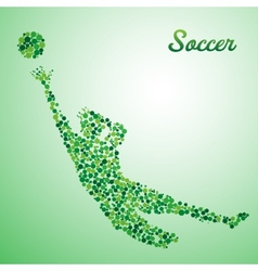 Abstract soccer goalkeeper vector