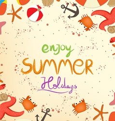 Enjoy summer holiday vector