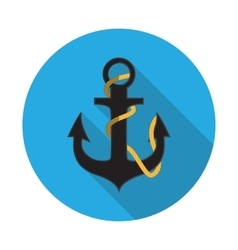 Flat design concept anchor vector