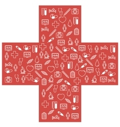 First aid medical icons set vector