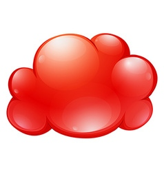 Red cloud on white vector