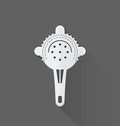 Flat style barman strainer icon vector