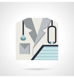 Physician flat style icon vector