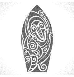 Surf board dotwork pattern vector