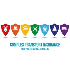 Complex transport insurance design concept vector